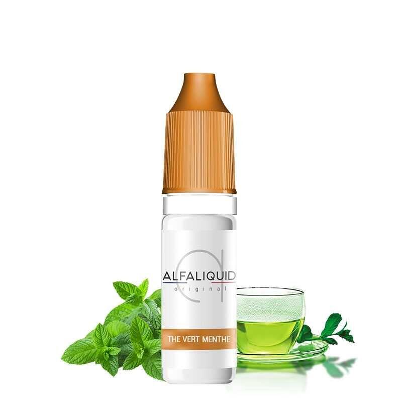 Alfaliquid Thé Vert Menthe 10ml - Alfaliquid- Genre : 10 ml