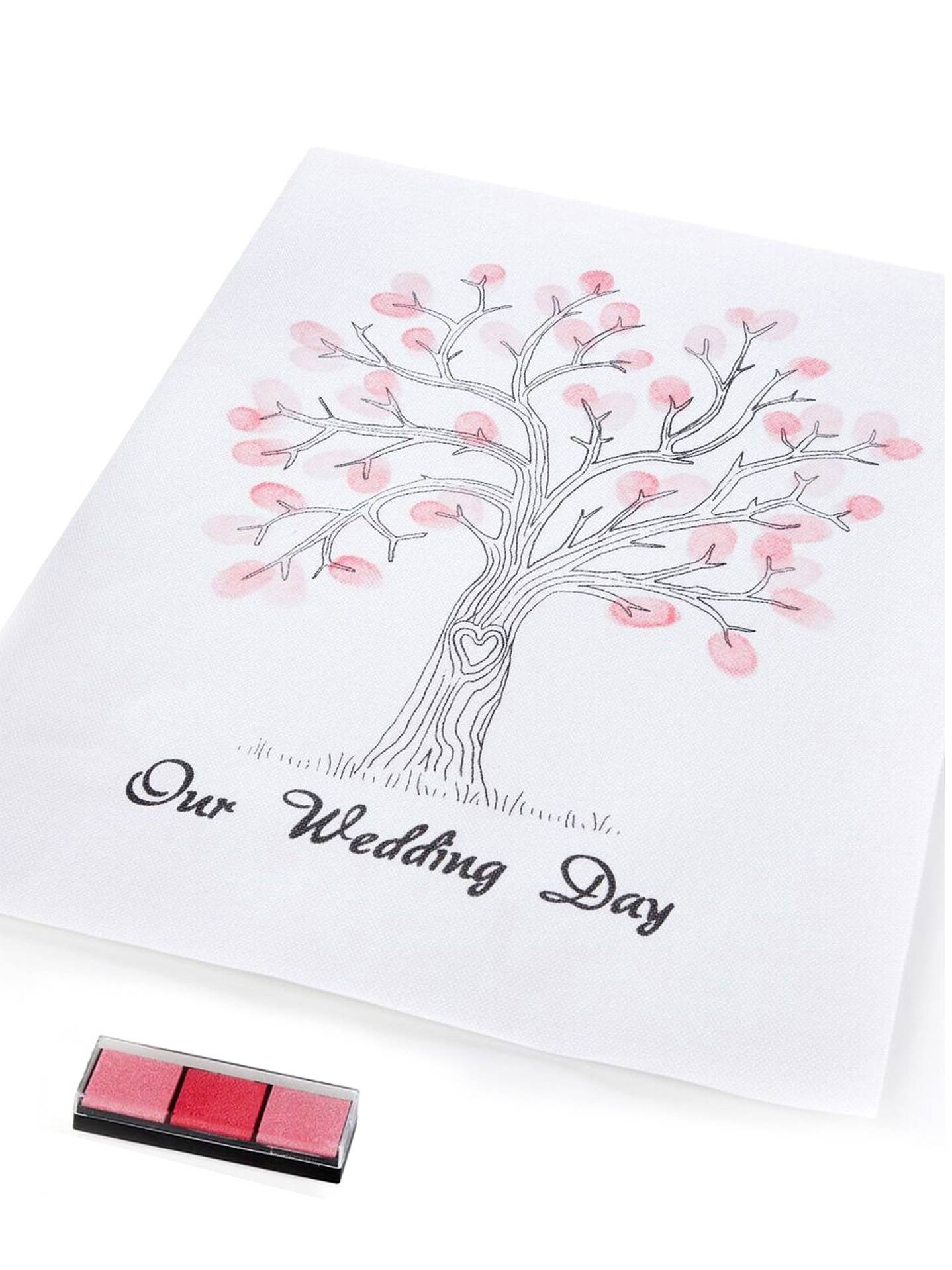 VegaooParty Arbre à empreintes souvenir mariage