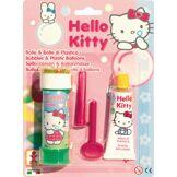 1 Flacon de bulles de savon et 1 Pâte à ballons Hello Kitty Taille Unique