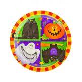 10 Assiettes en carton Happy Halloween 23 cm Taille unique