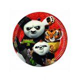 8 Assiettes en carton Kung Fu Panda 3 23 cm Taille Unique