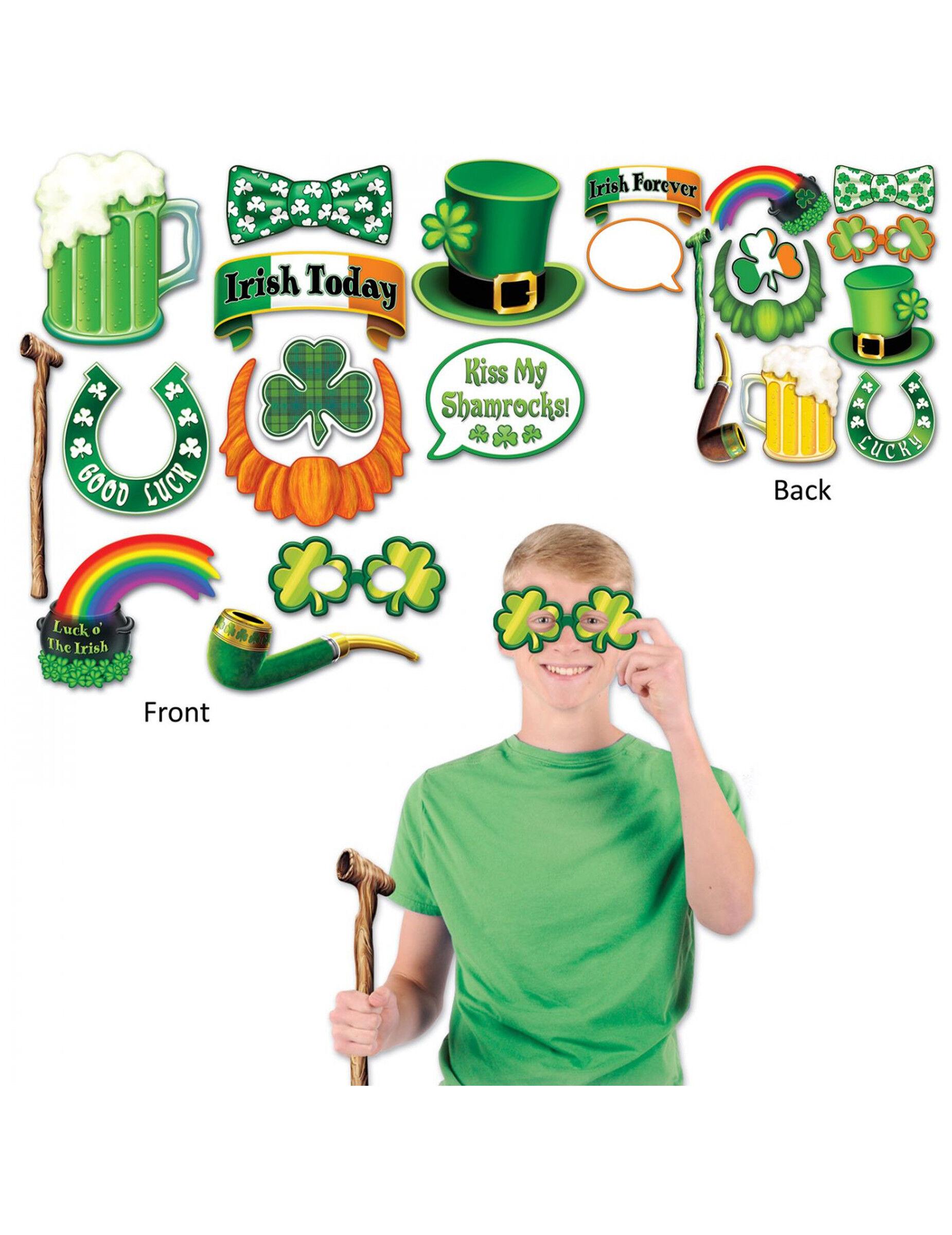 VegaooParty Kit photobooth Saint Patrick 12 accessoires