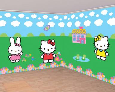 Décorations murales Hello Kitty Taille unique