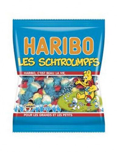 Sachet Bonbons Schtroumpfs Haribo 120 g. Taille Unique