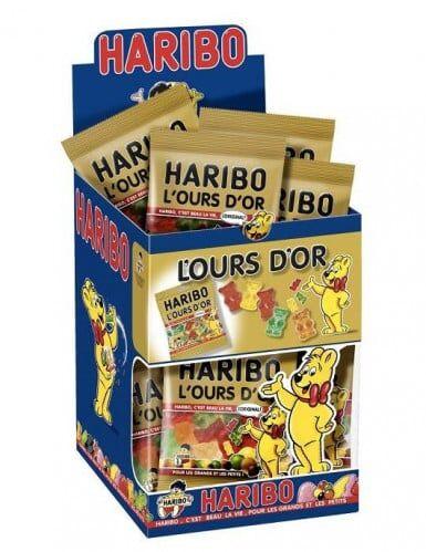Mini sachet bonbons Haribo ours d'or Taille Unique