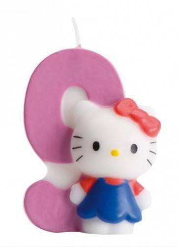 Bougie numéro 9 Hello Kitty Taille Unique