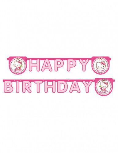 Guirlande Happy Birthday Hello Kitty 2 m Taille Unique