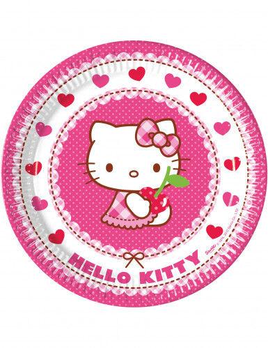 8 Assiettes en carton Hello Kitty 23 cm Taille Unique