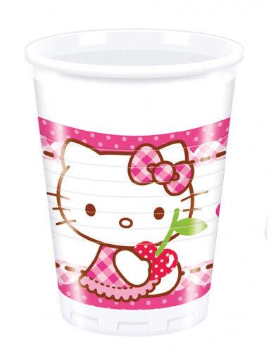 8 Gobelets en plastique Hello Kitty 20 cl Taille Unique
