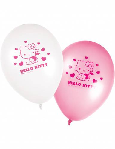 8 Ballons Hello Kitty Taille Unique