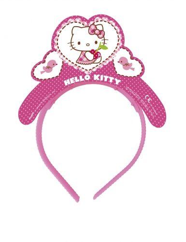 4 Tiares en carton Hello Kitty Taille Unique