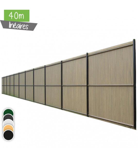 40ML d'occultation en lamelles - Couleur - Vert 6005, Hauteur - Ht 1m03