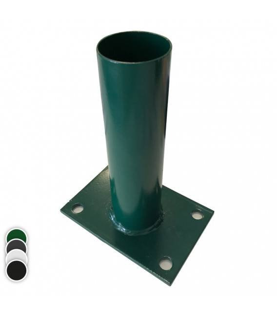Platine pour Poteau rond 60 - Couleur - Vert 6005