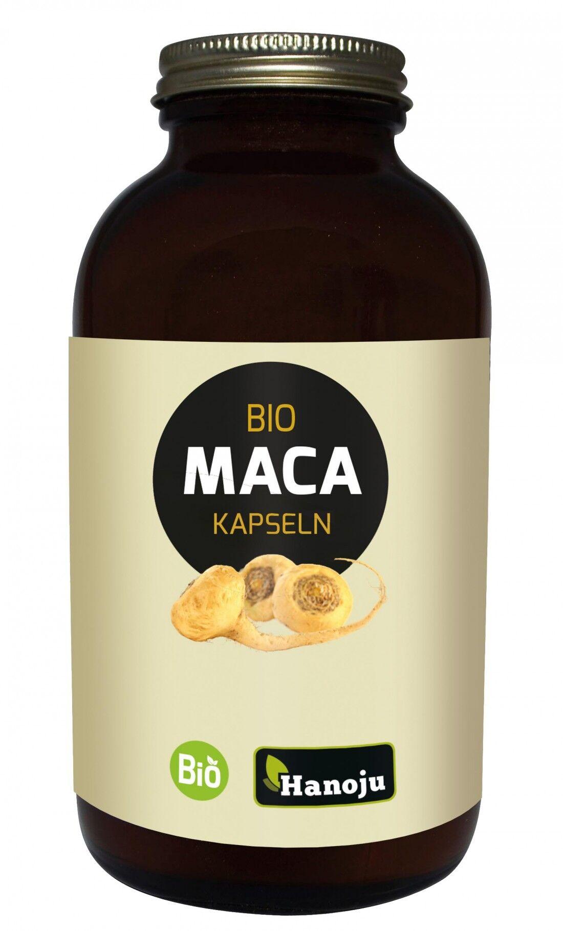 Hanoju Maca bio 4:1 - Lepidium Meyenii - 500mg - 300 gélules