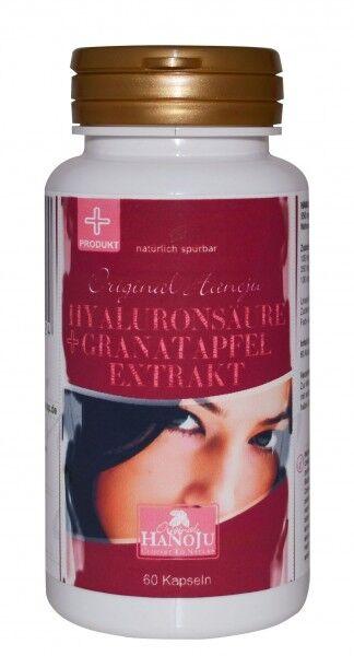 Hanoju L'acide hyaluronique + extrait de grenade - 550 mg - 60 gélules