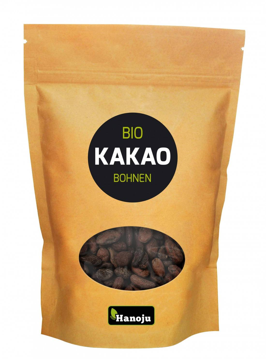 Hanoju Fèves de Cacao cru Bio - 500 g