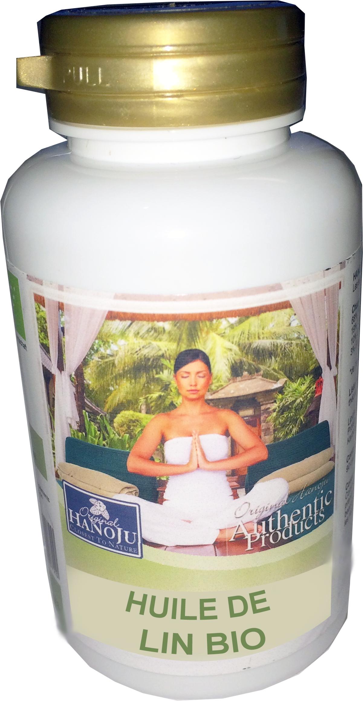 Hanoju Huile de Lin Bio - 120 gélules - 270 mg