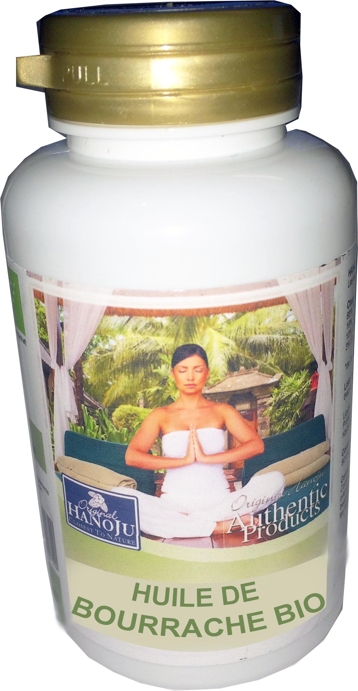 Hanoju Huile de Bourrache Bio - 90 gélules - 500 mg