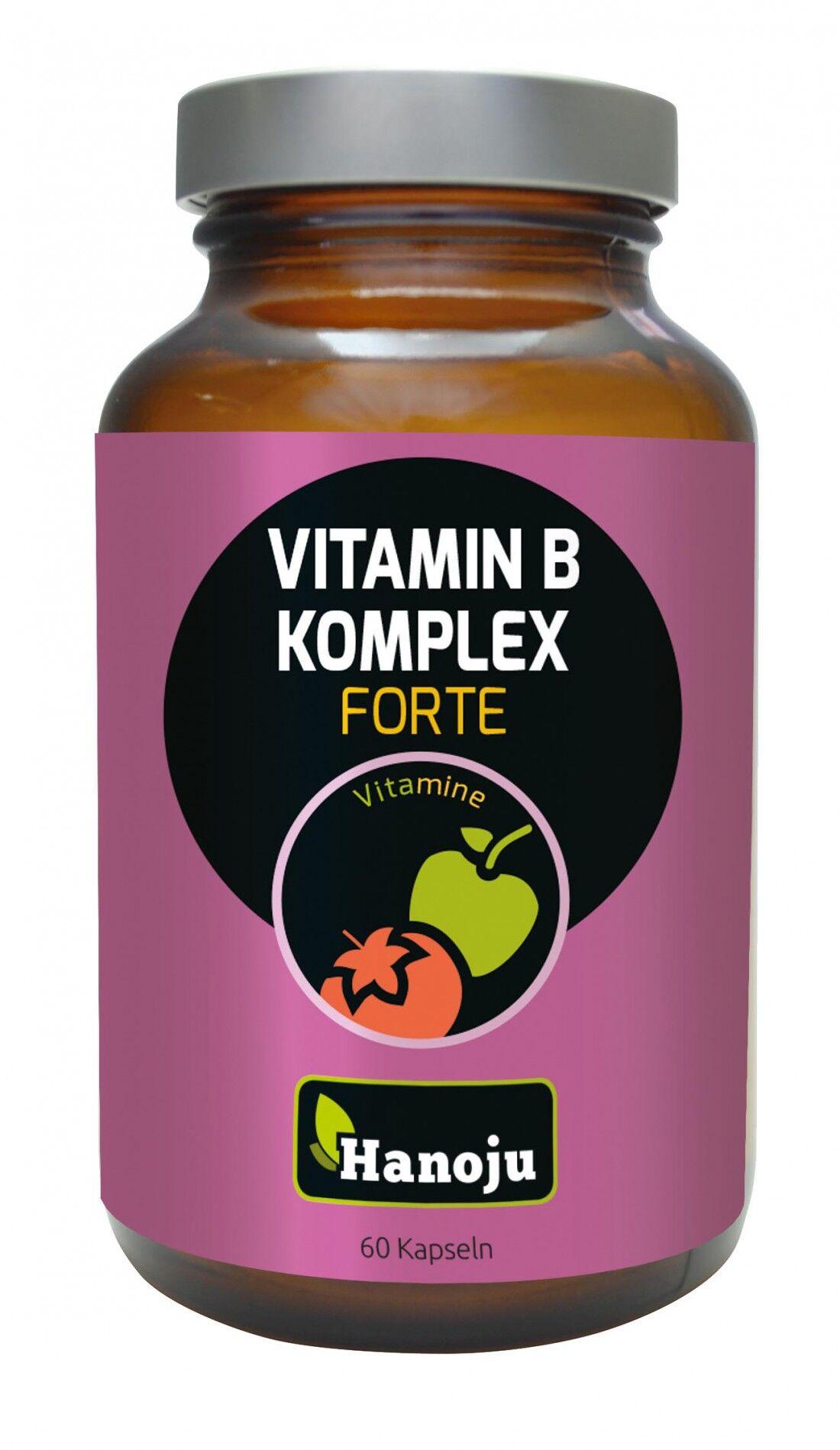 Hanoju Complexe de vitamine B - 60 gélules de 625 mg