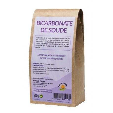 Nature Et Partage Bicarbonate de soude alimentaire - 500 g