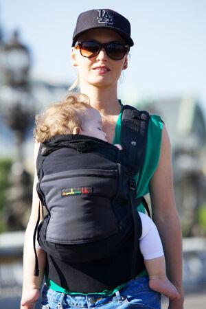 je porte mon bébé Porte-bébé Physiocarrier tablier noir poche anthracite -  JPMBB e3edef3a880