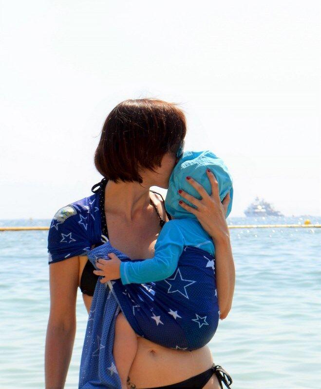 Sukkiri Porte-bébé Sukkiri Bleu étoile