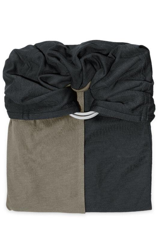 je porte mon bébé Écharpe de portage Sans Nœud JPMBB Anthracite - Olive