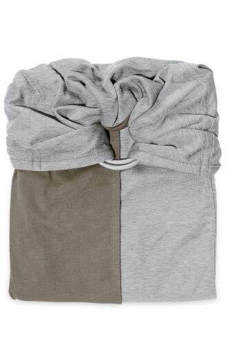 je porte mon bébé Petite écharpe sans noeud JPMBB - Gris Chiné Olive