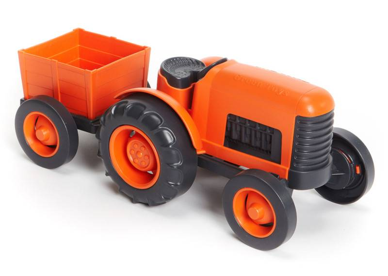 Green Toys Tracteur Orange Green Toys