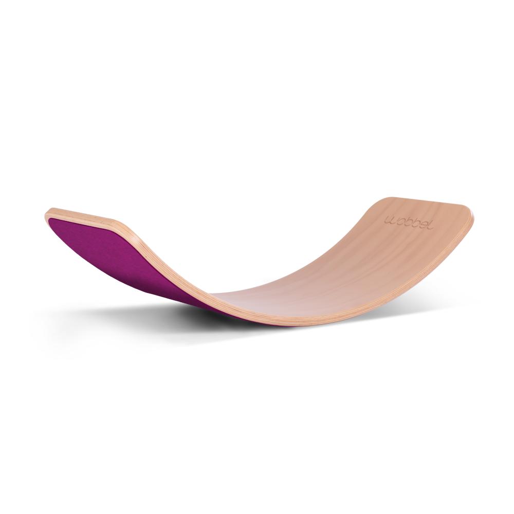 Wobbel Original Transparent Laqué avec Feutre - Planche d'équilibre