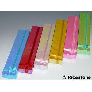 Ricestone 2a) 12x Boite bracelet, 20x4 cm, Multicolores.