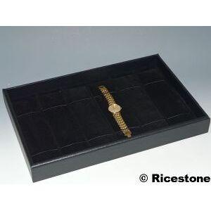 Ricestone 1d) Plateau-présentoir 23x35 cm pour 6x montres et gourmettes.