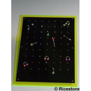 Ricestone 1) Plateau-présentoir 63 clips pour Piercing.
