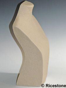 Ricestone 3d) Buste papier mâché, Présentoir en pâte à papier de collier, 36cm.
