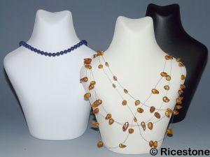 Ricestone 2a) Buste forme humaine pour collier, Porte-bijoux H=19cm