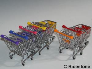 Ricestone 2) Mini Caddy, Chariot de courses Pot à stylos.