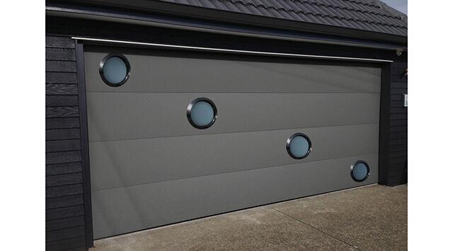 NAO L 2700 mm x H 2500 mm Porte de garage sectionnelle Alumininium Isolé