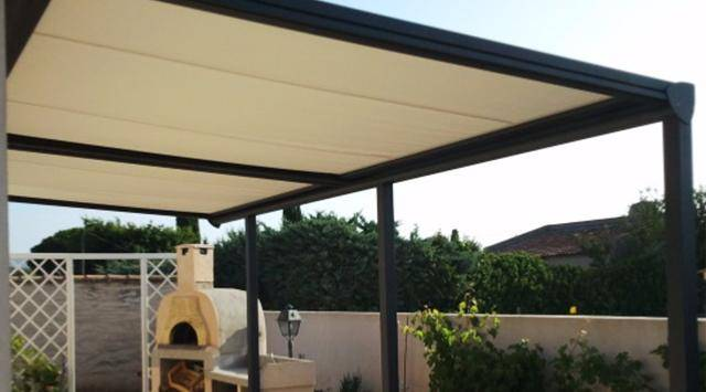 NAO Pergola aluminium top prix à toile Retractable NEW 1 m x A 2 m