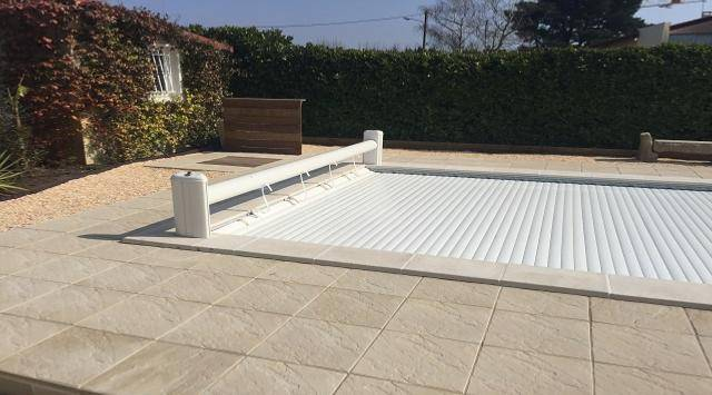 NAO Volet de piscine sur mesure (hors sol fixe solaire) 3m x 4m