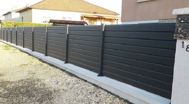 NAO L1m80 x H1010mm - Clôture aluminium sur mesure - NAO