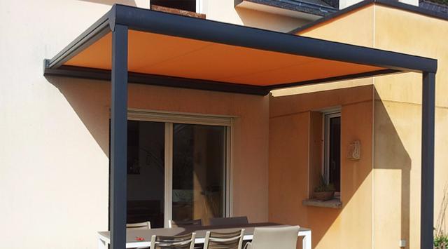 NAO 4 m x A 3 m Pergola Aluminium Top Prix Toile Retractable NEW