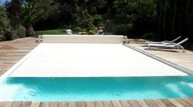 NAO Volet de piscine hors sol fixe a batterie L 3000 x l 4000 mm