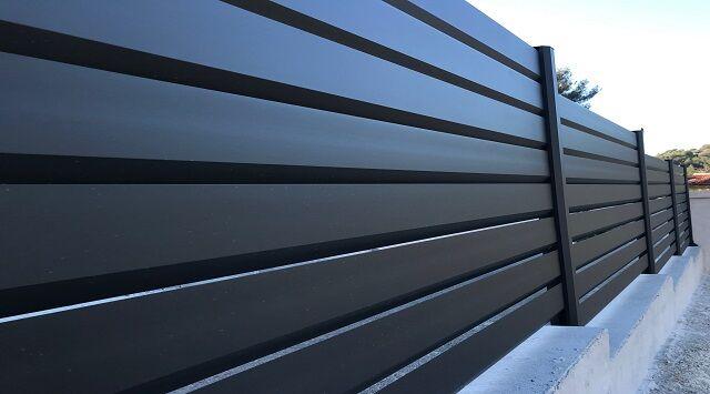 NAO L1m80 x H1280mm - Clôture aluminium sur mesure - NAO