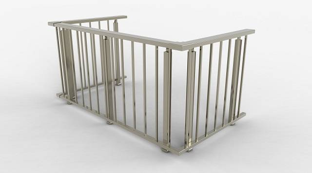 NAO Balustrade Aluminium NAO à lisses