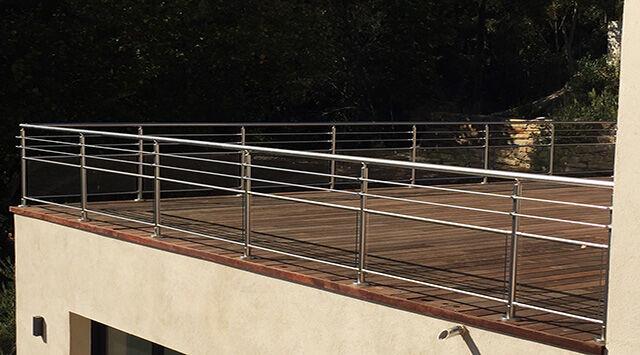 NAO Balustrade Aluminium Verre NAO et 2 lisses