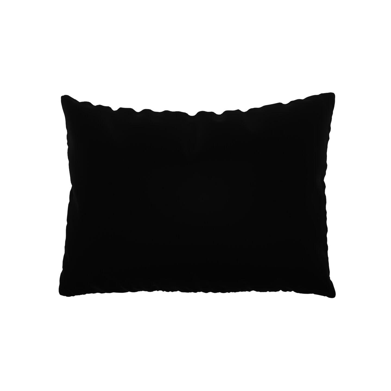 MYCS Coussin Noir - 48x65 cm - Housse en Velours. Coussin de canapé moelleux