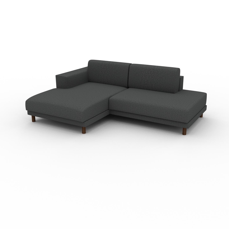 MYCS Canapé d'angle - Gris pierre, design épuré, canapé en L ou angle, élégant avec méridienne ou coin - 224 x 75 x 162 cm, modulable
