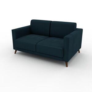 MYCS Canapé 2 places Velours - Bleu Pétrole, design épuré, petit canapé deux personnes, élégant - 145 x 75 x 98 cm, modulable - Publicité