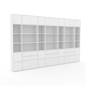 MYCS Placard - Blanc, moderne, rangements, avec porte Blanc et tiroir Blanc - 380 x 233 x 35 cm - Publicité