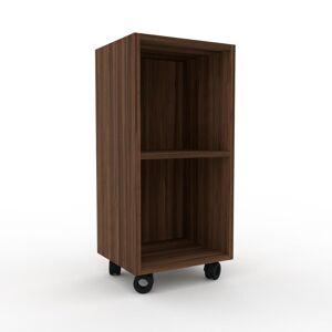 MYCS Range CD - Noyer, design contemporain, meuble pour vinyles, DVD - 41 x 87 x 35 cm, personnalisable - Publicité